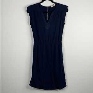 rebecca taylor blue dress exposed zipper